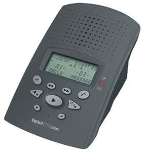 Tiptel 215 plus anthrazit, digitaler Anrufbeantworter mit ca. 30 Min. Aufzeichnungskapazität