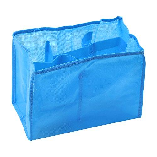 Mutter Travel Bag Windeltasche für die Aufbewahrung Baby-Windel Kleidung Windeln Flasche Wickeltasche (L, Blau)