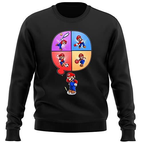 Sudadera Videojuego - Parodia de Super Mario Bros y Wii Fit (783)