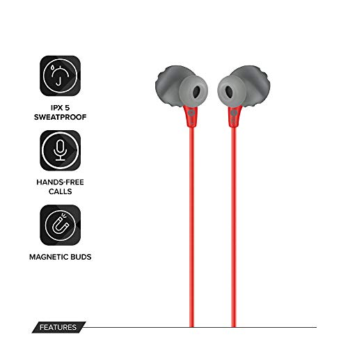 JBL Endurance Run Sweat-Proof Sports in-Ear Headphones with One-Button Remote and Microphone (Pink) Image 3