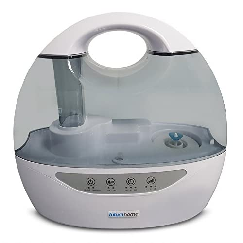 418H6H36SwL. SS500  - FUTURA Cool Mist Humidifier Ioniser & Timer Dual Output 6 changeable coloured LED Night Lights
