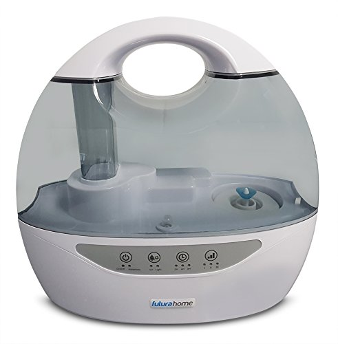418H6H36SwL - FUTURA Cool Mist Humidifier Ioniser & Timer Dual Output 6 changeable coloured LED Night Lights