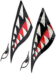 IPOTCH 2 Pcs de Pegatinas en Forma de Dientes Suministros de Deportes de Barco kayak Accesorio de Deportes