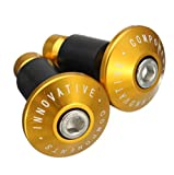 2 Stücke 22mm CNC Teile Straße MTB Lenker Cap Hand Griffe Bar End Plugs - Gold