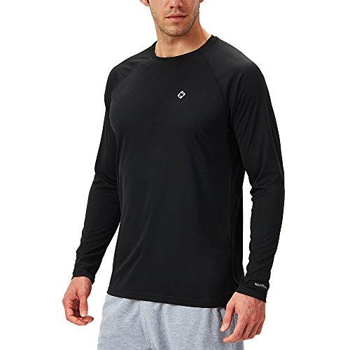 NAVISKIN Protection Le Soleil Anti- UV T-Shirt à Manches Longues pour Homme Noir Taille M