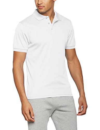 James & Nicholson Herren Poloshirt Men´s Active Polo Weiß (White)