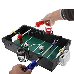 Booze Ball Drinking Game Mini Soccer Football Table with Balls Shot Glasses