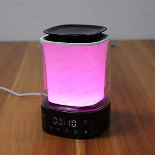 Lampes De Réveil Humidificateur Réveil Réveil Aromathérapie Humidification Réveil Électronique Multifonction Multicolore @ Noir