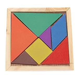 7pcs Colorful Conseil Tangram IQ Puzzle Education Kit Jouet pour enfant