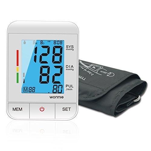 sgerät, WONNIE Automatische große Manschette FDA zugelassene Blutdruckmessgerät, elektronische LCD Anzeige Blutdruckmessgerät Manschette Zwei Benutzer (2 x 90) ()