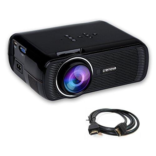 Crenova 1200 Lumens Mini Projector 800*480 Resolution Support 1080P Video for Home Cinema - Black Test