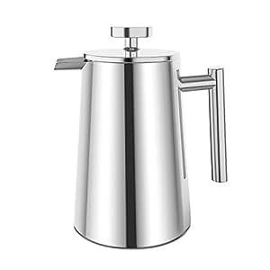 plemo kaffeebereiter french press kaffeepresse aus rostfreiem edelstahl 1 liter. Black Bedroom Furniture Sets. Home Design Ideas