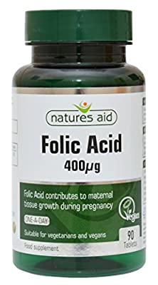 Natures Aid Folic Acid 90 Tablets from NAVX2