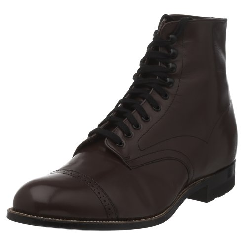 Stacy Adams Men's Madison Cap Toe Boot,Brown,9.5 EE