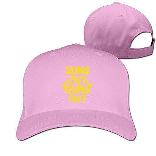 Zhgrong Caps Suns Out Guns Out Muscle Solid Travel Cap Baseball Cap Sport Hats for Men and Womens mesh Cap Sun Gun Light