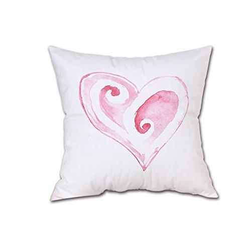 drucktes Kissen Valentinstag Dekokissenbezug Sweet Love Square Kissenbezug ()