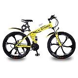KVIONE VTT 26' Femme Vélo Pliable Vélo Pliable VTT Tout Suspendu Shimano 21...