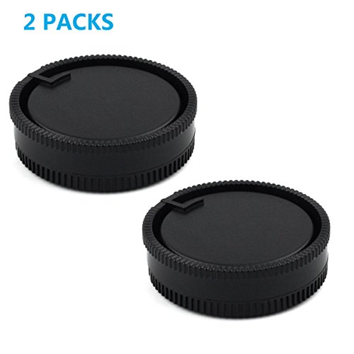 HomyWord 2 Stück Hinterer Objektivdeckel und Kameragehäusedeckel-Set für Sony A-Mount / Minolta AF-Mount-DSLR-Kameras und -Linse für Sony A500/A550/A560/A580/A700 A550 Dslr-kamera