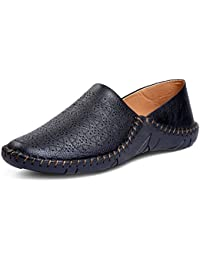 Shoe Fab Men's Black Synthetic Leather Loafers Casual Shoes For Mens