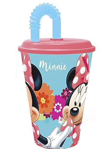 minnie mouse, la tige de verre. paille verre. produit en matière plastique. pas bpa. capacité 430 millilitres