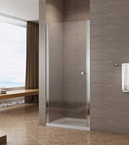 100cm Duschtür Duschabtrennung Nischentür Pendeltür Duschwand Schwingtür mit Nano Beschichtung Höhe 195cm klar