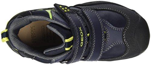 Geox Jungen J New Savage Boy C Boots mit Velcro Blau (Navy/LIMEC0749)