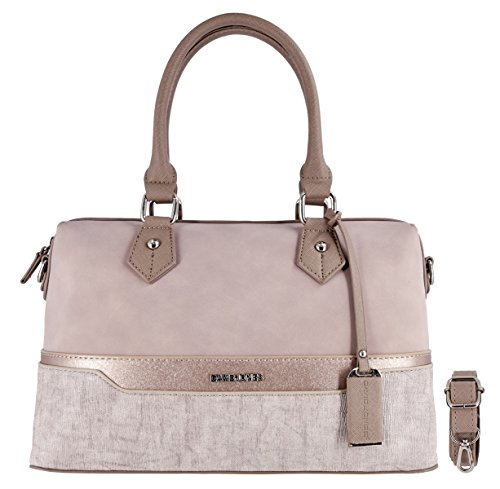 David Jones - Women bowling Handbag - Mix of Nubuck Suede glitter and Striated...