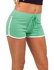 Lorata Femme Short de Sport Short de Bain Gym Fitness Yoga Jogging Course
