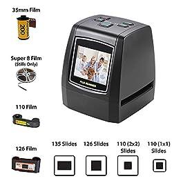 ArmaGedon 14 Mega pixel Scanner per diapositive ad alta risoluzione, converte 35mm, 126/110 Pellicola, Super 8 Negative/Slide a JPEG Salva in SD Card con display LCD da 2,4″