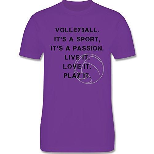 Volleyball - Volleyball Statement - Herren Premium T-Shirt Lila