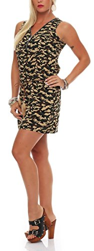 malito more than fashion - Robe - Trapèze - Femme Multicolore Multicolore S/M camouflage W-7088
