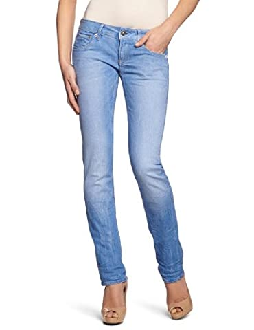 G-STAR Damen Straight Leg Jeanshose 3301, Gr. 27/30, Blau (medium aged 071)
