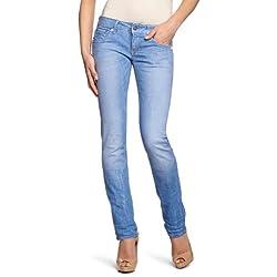 G STAR RAW 3301 Straight Vaqueros Azul medium aged 4873 071 26W 30L para Mujer
