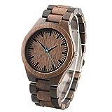 Benutzerdefinierte graviert Armbanduhr aus Holz für Männer Holzuhr Armband - Bräutigam Trauzeugen Geschenk Kostenlose Gravur - Custom Engraved Wooden Watch for Men