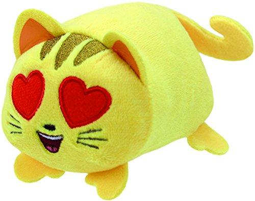 Teeny Ty Emojis - Smiling Cat Heart Eyes - 10cm 4""