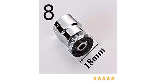 Adattatore aeratore per rubinetto Mxfans rotazione 360/° filettatura maschio 14 mm e 22 mm