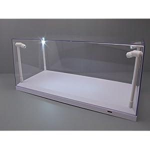 Klarsichtbox Vitrine mit LED-Beleuchtung weiß für 1:18 Modellautos, 4 LED-Lampen / Triple9