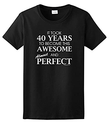 40th Birthday Gifts For All Awesome Almost Perfect Ladies T-Shirt XXX-Large Violet