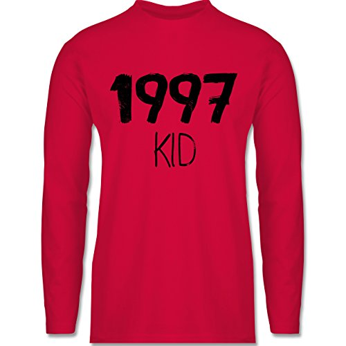 Geburtstag - 1997 KID - Longsleeve / langärmeliges T-Shirt für Herren Rot