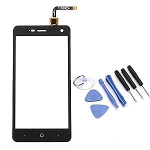 VABNEER® Digitizer Bildschirm Vorderer Glas Ersatz Display Touchscreen Replacement mit Werkzeuge zur Reparatur für ZTE Blade L5 Plus schwarz