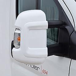 Milenco Mascherina Protettiva per specchietto con braccetto Lungo (Colore Bianco)