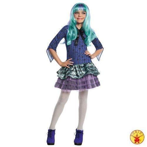 Lively Moments Edles Kostüm Monster High Twyla mit Perücke Kleid Gr. M = 116 - - Monster High Twyla Kostüm Perücke