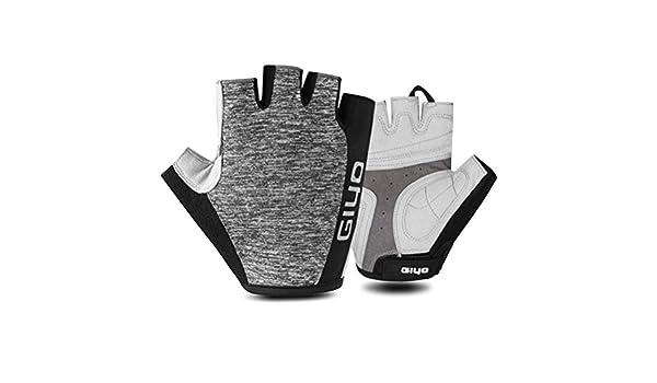Gants de v/élo Demi-Doigts Adulte Antichoc an-Slip Respirant v/élo v/élo Gant de Fauteuil Roulant Motocross Racing Fitness Randonn/ée Mitaines