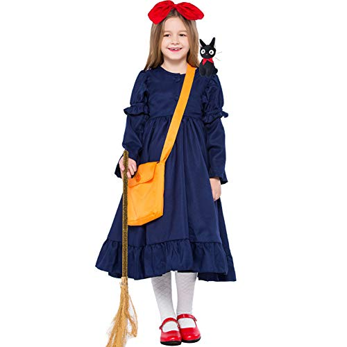 Kiki Hexe Kostüm - LOLANTA Mädchen Kikis Lieferservice Cosplay Kleid Kinderhexe Halloween-Kostüm