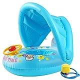 Barca per Bebè Gonfiabili Piscina Baby Salvagente Neonato Float con Parasole Anello di Nuoto Bambini 6-36 Mesi