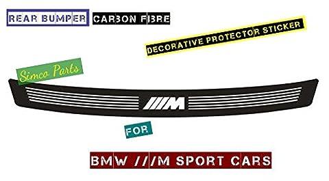 Kool Parts: 1 x Carbon Fiber Rear Bumper Protective Sticker for BMW M M3 M5 Sport 1 3 5 7 Series