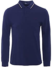 Fred Perry Manches longues Twin Tipped Polo Shirt Carbone Bleu