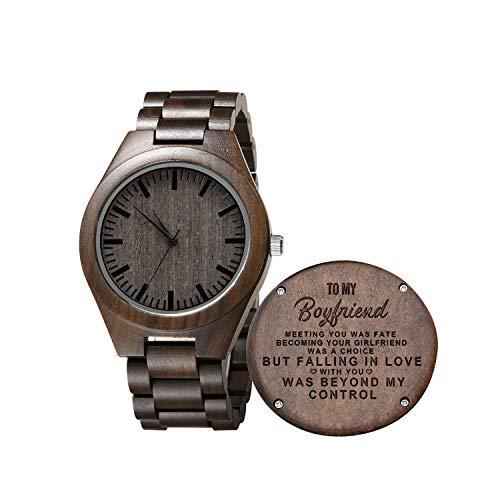 Gravierte hölzerne Uhr für Sohn und Freund, personalisierte hölzerne Uhr Geschenk für Freund, Abitur Geschenk von Mama, von Papa (for Boyfriend)