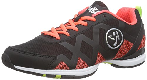 Zumba Footwear Zumba Flex II Remix, Damen Hallenschuhe, Orange (Black/Neon Orange), 39 EU