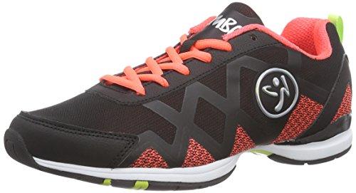 Zumba Footwear Zumba Flex II Remix, Damen Hallenschuhe, Orange (Black/Neon Orange), 39 EU